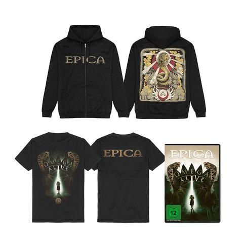 Omega Alive Bundle (DVD/BluRay + Shirt + Zipper) by Epica - DVD / BluRay Bundle - shop now at Epica store