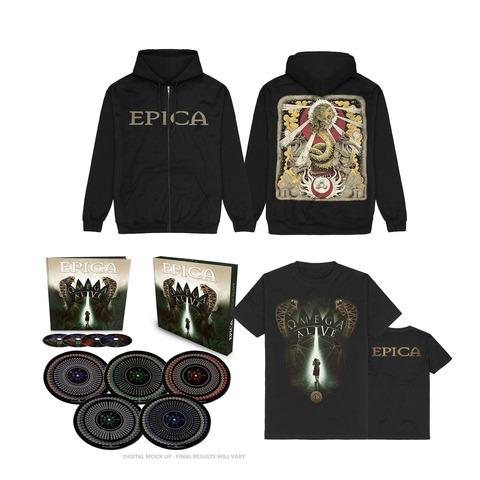 Omega Alive Bundle (Ltd 10inch Boxset + Shirt + Zipper) by Epica - LP bundle - shop now at Epica store