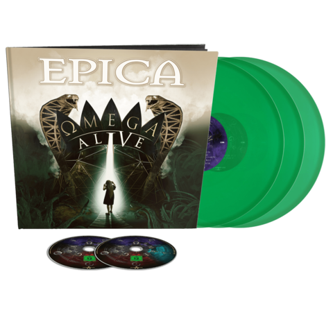 Omega Alive (Ltd Earbook 3LP Green + DVD / BluRay) by Epica - Earbook - shop now at Epica store